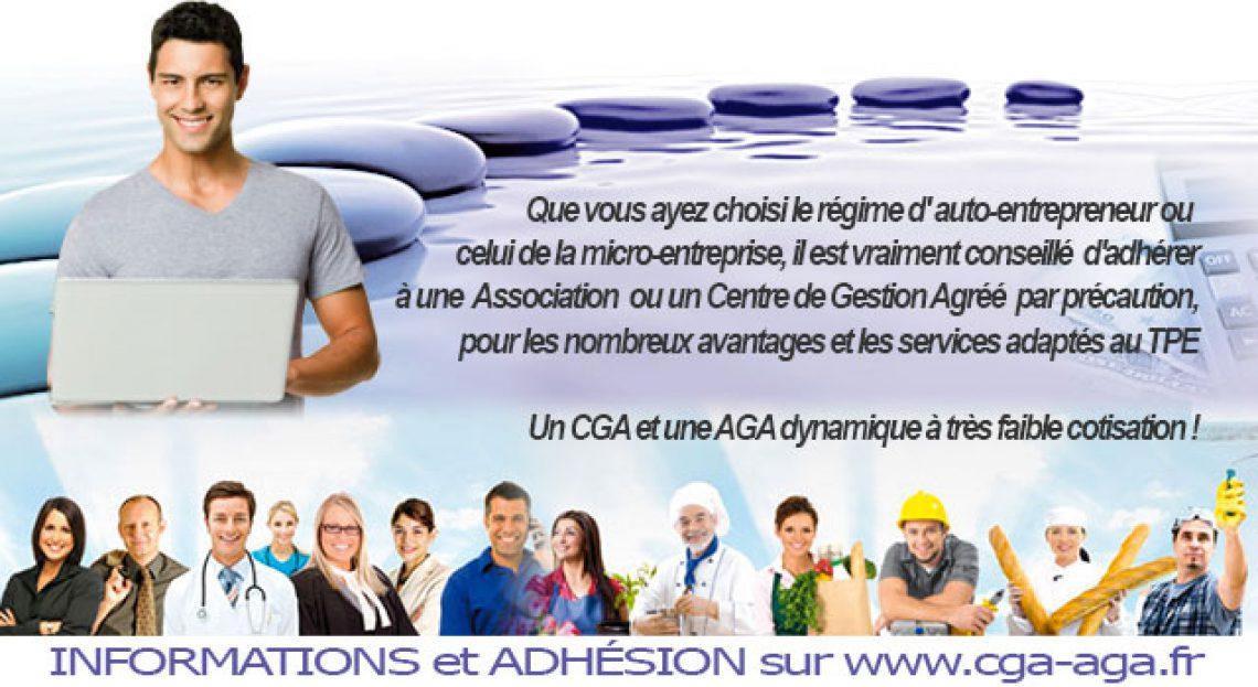 Adhésion CGA AGA Auto-entrepreneur